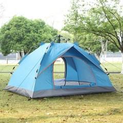아우터 원터치 텐트(2~3인용/블루)
