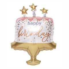 생일케익 컨페티 33인치 은박풍선