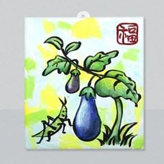 마미아트M-초충도 가지와 방아깨비 종이액자 만들기