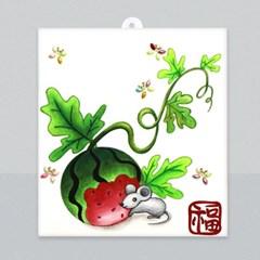 마미아트M-전통 초충도 수박과 들쥐 종이액자 만들기