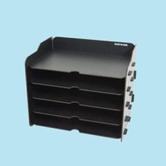 [나룸] TWD-012 DIY 블랙 서류 가로 수납함 5단