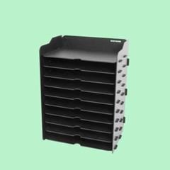[나룸] TWD-013 DIY 블랙 서류 가로 수납함 10단