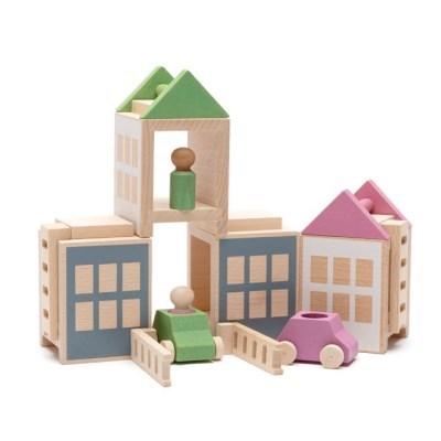 루부로나 루부타운 맥시 건축 블럭 원목교구 장난감