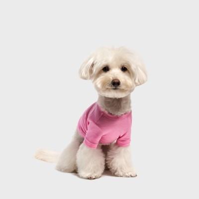 수피마 코튼 티셔츠 핑크
