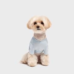 수피마 코튼 티셔츠 페일블루