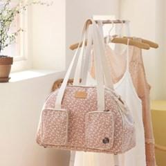 겟백 강아지 가방 - 반달 숄더백 핑크플라워