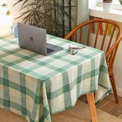 딜라이트 체크 테이블 클로스 애플그린 3size_(549752)