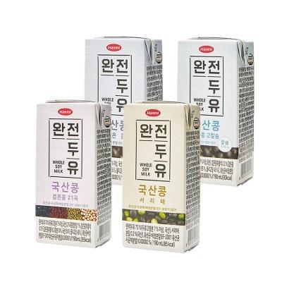 [한미]완전두유 국산콩두유 190ml 32팩(검은콩/고칼슘/2_(2692465)