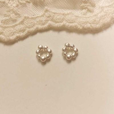 [봄밤달] 물방울 귀걸이 (은침)