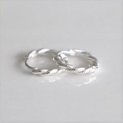 [Silver925] Basic twist earring_(1555300)