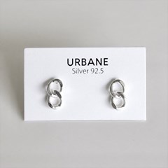 [Silver925] Two chain earring_(1555299)