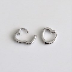 [Silver925] Mini heart one touch earring_(1555293)