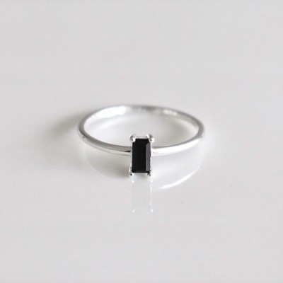 [Silver925] Rectangle stone ring_(1555286)