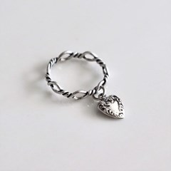 [Silver925] Antique knot heart ring_(1555284)