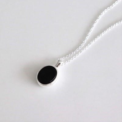 [Silver925] Neat onyx necklace_(1555280)