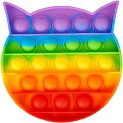 레인보우 푸쉬 팝 버블 - 고양이