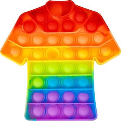 레인보우 푸쉬 팝 버블 - 티셔츠
