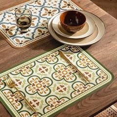 프리미엄 방수 PVC 식탁 테이블 매트 / 레트로