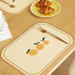 프리미엄 방수 PVC 식탁 테이블 매트 / 빈티지