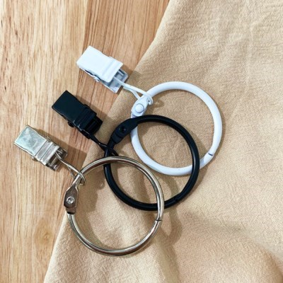[집다다]간편 똑딱이 커튼 집게링 다용도 오픈형 커텐 부자재