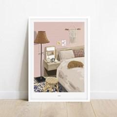 코지룸 핑크톤 인테리어 아트 포스터 그림 액자