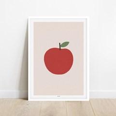 레드애플 빨간사과 풍수 행운 인테리어 아트 포스터 그림 액자