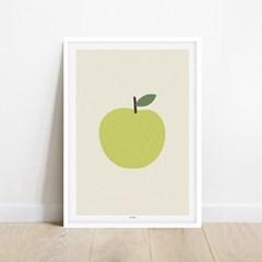 그린애플 초록사과 풍수 행운 인테리어 아트 포스터 그림 액자
