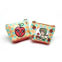 사과 동전지갑