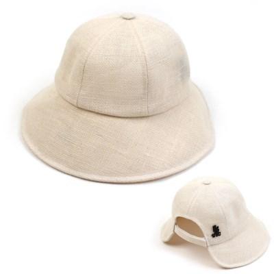 Linen Backopen Ivory Bucket Hat 린넨버킷햇