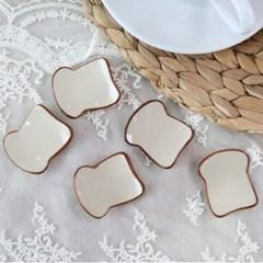 식빵 모양 젓가락 수저 받침 5P 세트