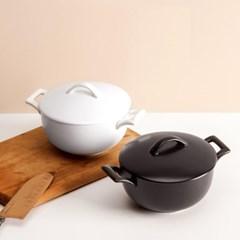 손잡이 도자기 뚜껑 면기 다용도 라면 우동 덮밥 그릇 2color f