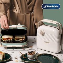 벤소닉 레트로 3in1 와플 메이커 HY-6602 샌드위치 도너츠 플레이트