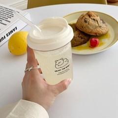 뒹굴 모모베어 투명 리유저블컵