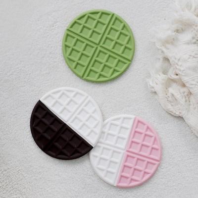 트리니 와플 실리콘 냄비받침 3color