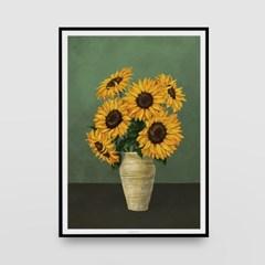 일러스트 포스터 / 인테리어 액자_sunflower 01
