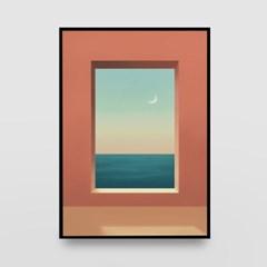 일러스트 포스터 / 인테리어 액자_window 04