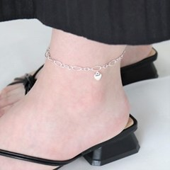 [Silver925] Soft heart anklet_(1556143)