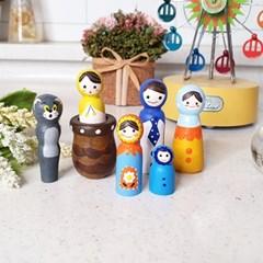 DIY 재료 원목 인형세트 나무 목각 색칠하기 만들기 색칠공예
