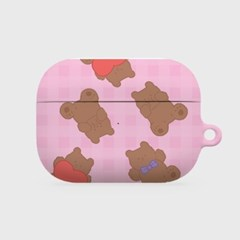 pattern teddy gummy [hard 에어팟프로케이스]
