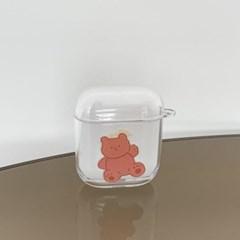 toy teddy gummy [clear 에어팟케이스]