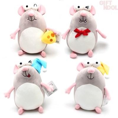 정품 와글와글 찌수니 쥐 모찌 봉제인형 25cm