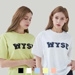 [1+1][단독구성] 컬리지 로고 티셔츠 (5컬러)