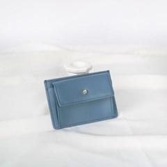 [1+1] Blumen Pocket Card Wallet - Blue_(1061478)