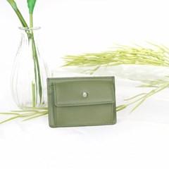 [1+1] Blumen Pocket Card Wallet - Green_(1061477)
