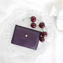 [1+1] Blumen Pocket Card Wallet - Purple_(1061476)