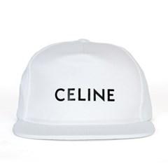 21SS 셀린느 로고 코튼 스냅백 화이트 2AUU1126N 01BC