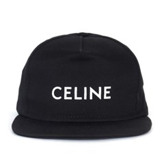 21SS 셀린느 로고 코튼 스냅백 블랙 2AUU1126N 38NO