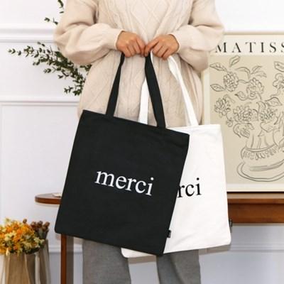 [1+1] MERCI 메르시 프랑스 파리 감성 에코백 (2color)