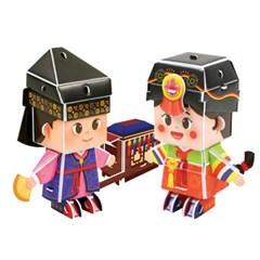 한국의 문화유산 입체퍼즐 - 전통의상 한복 (3종)