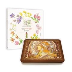 안녕, 우리 들꽃 컬러링북 + 아르누보 50색 틴케이스 색연필 세트